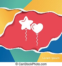 balloon, compleanno, icona
