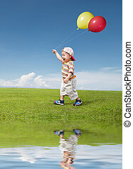 balloon, criança