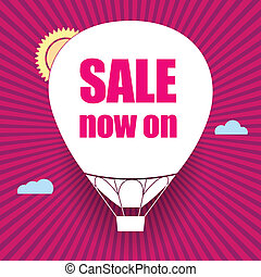 Balloon cut out of paper, sale now on