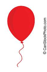balloon, czerwony