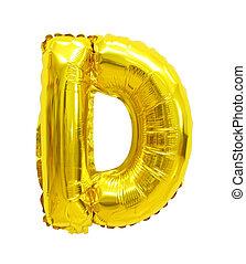 balloon, d, lettre