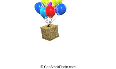 Balloon delivery - Fun animation wooden box balloon delivery...