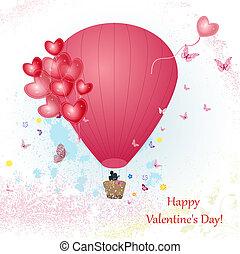 balloon, disegno, tuo, giorno, valentine