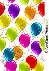 balloon, dosti, seamless, grafické pozadí