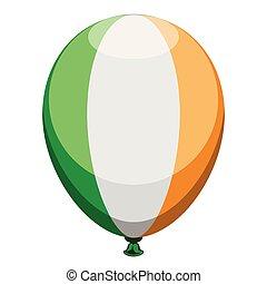 balloon, drapeau, isolé, irlande