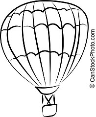 Balloon drawing, illustration, vector on white background.