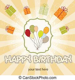 balloon, fødselsdag card