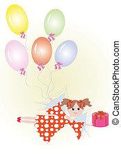 balloon., fata, regalo