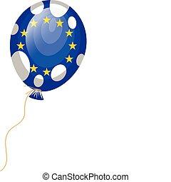 balloon flag of European Union