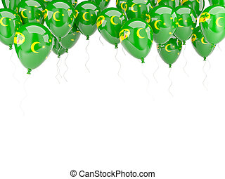 Balloon frame with flag of cocos islands