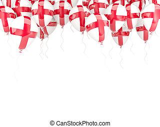 Balloon frame with flag of england