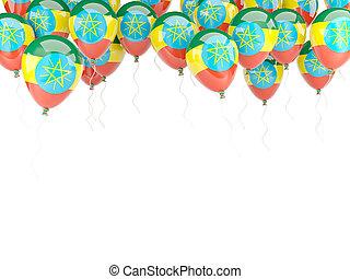 Balloon frame with flag of ethiopia