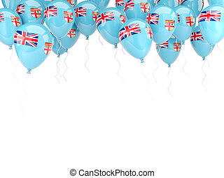 Balloon frame with flag of fiji