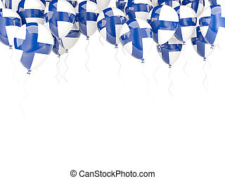 Balloon frame with flag of finland