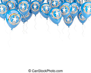 Balloon frame with flag of northern mariana islands