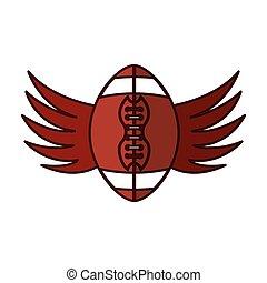 balloon, futebol, ícone americano, asas