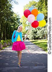 balloon girl in the park