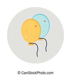 balloon glyphs color circle icon