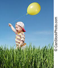 balloon, gosse