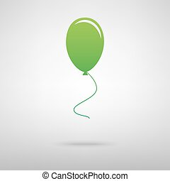 Balloon green icon