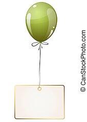 balloon, hangtag