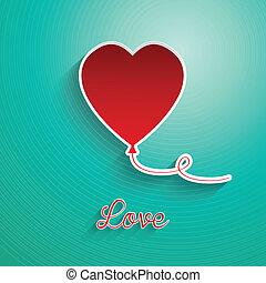 Balloon heart background