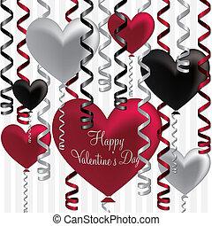 Balloon Heart Ribbon Card