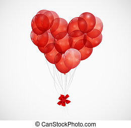 Balloon Heart Vector Illustration Background