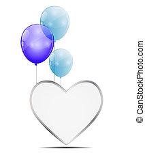 Balloon Heart Vector Illustration Background
