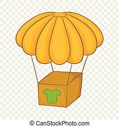 Balloon icon, cartoon style