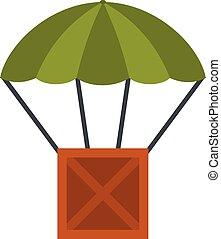 Balloon icon, flat style