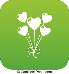 Balloon icon green vector