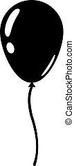 Balloon icon isolated on white background. Flat design vector illustration
