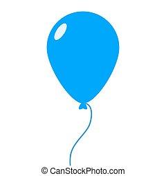 Balloon icon isolated on white background. Vector illustration
