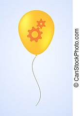 Balloon icon with gears
