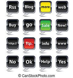 balloon, icons., インターネット