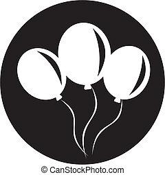 balloon, ikone