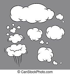 balloon, illustration, vecteur, message, bulle, parler