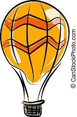 Balloon, illustration, vector on white background.