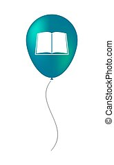 balloon illustration with a book