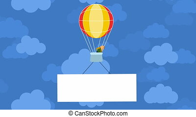 Balloon in the clouds - Video of the balloon in the clouds
