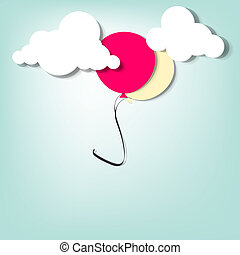 balloon in the clouds