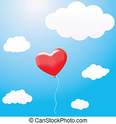 Balloon in the shape of a heart