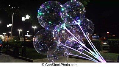 Balloon install LED lighting inside so attractive dark -...