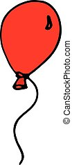 Balloon isolated icon in style hand draw