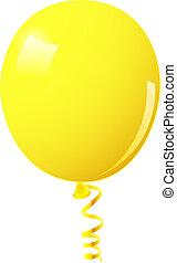 balloon, jaune