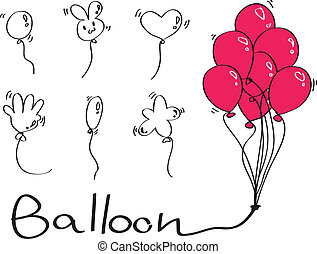 balloon, komplet, typ, diffrence