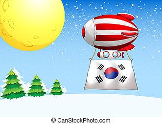 balloon, korea, prapor, jih