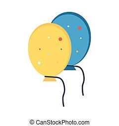 balloon, lakás, ikon