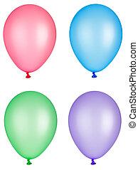 balloon, leksak, fiesta, barndom, firande
